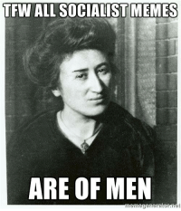 Fan submitted. Apologies for such a gender discrepancy amongst the sass: TFW ALL SOCIALIST MEMES  ARE OF MEN  net Fan submitted. Apologies for such a gender discrepancy amongst the sass