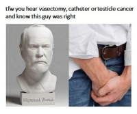 """Dank, Meme, and Tfw: tfw you hear vasectomy, catheter ortesticle cancer  and know this guy was right <p>Stop Saying It via /r/dank_meme <a href=""""http://ift.tt/2i2yiji"""">http://ift.tt/2i2yiji</a></p>"""
