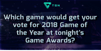 God, Memes, and Monster: TGN  hich game would get your  vote for 2018 Game of  the Year at tonight's  Game Awards? #GameAwards Game of the Year Nominees: - Assassin's Creed Odyssey - Celeste - God Of War - Monster Hunter: World - Red Dead Redemption 2 - Spider-Man https://t.co/4GNQzkRpJg