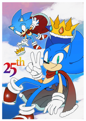 Birthday, Target, and Tumblr: th  25 naphide: My favorite hedgehog's special 25th birthday! Here's a Sonic's B-day artwork I drew especially for this day! This is actually the first time I drew an anniversary present as a Sonic fan, only because I didn't know when his birthday was…(shot*) Continue to be awesome, Sonic!