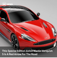 Via @carthrottlenews - Aston Martin's Cambridge dealer asked the company's Q division to build 10 units of a special Red Arrows-themed Vanquish S, and they're a bit lovely.: TH  This Special Edition Aston Martin Vanquish  S Is A Red Arrow For The Road Via @carthrottlenews - Aston Martin's Cambridge dealer asked the company's Q division to build 10 units of a special Red Arrows-themed Vanquish S, and they're a bit lovely.