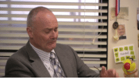Is this Creed's mugshot hanging at his desk?!: thank Is this Creed's mugshot hanging at his desk?!