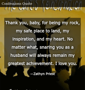 Thank You Baby for Being My Rock My Safe Place to Land My ...