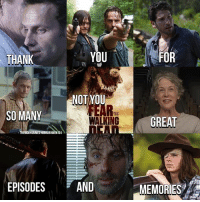 thanks thewalkingdead: THANK  YOU  FOR  NOT YOU  You  SO MANY  THE  WALKING  GREAT  THERICKYGRIMES HORRORVIKEN 101  EPISODESAND  MEMORIES thanks thewalkingdead
