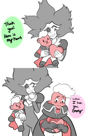 "Love, Tumblr, and Thank You: Thank  You  Here is   I love  cu peacefulteatime:  Happy V-Day from my Laremmy Heart, Folks! Lars didn't have to steal it this time… but now he's in a heated ""I LOVE YOU MORE"" match."