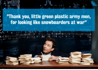 """Target, youtube.com, and Army: """"Thank you, little green plastic army men,  for looking like snowboarders at war"""" <p><a href=""""http://www.youtube.com/watch?v=EQjII7oHZX0&amp;list=PLykzf464sU9-IFE2ZBbUyfbi6_uNBQavD&amp;feature=c4-overview-vl"""" target=""""_blank""""><strong>More Thank You Notes</strong></a></p>"""