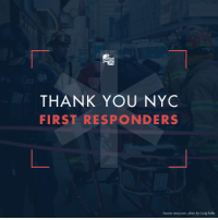 New York, Thank You, and Brave: THANK YOU NYC  FIRST RESPONDERS  Source: amny.com, photo by Craig Rutla Thank you to the New York City first responders for protecting and aiding those affected by the terrorist attack this morning. These brave citizens risk their lives every day to save ours.   SHARE to show your appreciation for all they do for our country.
