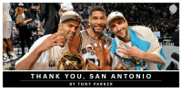 .@TonyParker says thank you to San Antonio after 17 years. https://t.co/mzlOBFRTUO  (In partnership with @AmericanExpress) https://t.co/nuT9T4QZFf: THANK YOU, SAN ANTONIO  BY TONY PARKER .@TonyParker says thank you to San Antonio after 17 years. https://t.co/mzlOBFRTUO  (In partnership with @AmericanExpress) https://t.co/nuT9T4QZFf