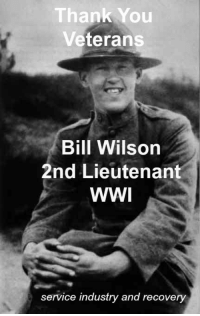 2Nd Lieutenant: Thank You  Veterans  Bill Wilson  2nd Lieutenant  WWI  service industry and recovery