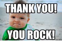 Thanks You: THANK YOU!  YOU ROCK!  Memes