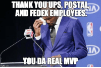 "Advice, Tumblr, and Thank You: THANK YOUUPS. POSTAL  AND FEDEX EMPLOYEES  YOU-DA REAL MVP  imgflip.com <p><a href=""http://advice-animal.tumblr.com/post/168823604148/thank-you-to-the-real-heroes-of-the-holiday"" class=""tumblr_blog"">advice-animal</a>:</p>  <blockquote><p>Thank you to the real heroes of the holiday season.</p></blockquote>"