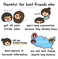 Friends, Instagram, and Target: thankful for best friends who  chibird.com  three mice  HA!  HA!  get all your dont need explonation  inside jokes because they already knovw  tell me  EVERYTHING.  CHIBIRD  don't believe inare still best friends  too much information despite long distance chibird:  Tag your best friends- and thank them for being extra special. 3 :D  Webtoon | Patreon | Instagram