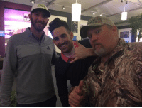 Memes, 🤖, and Foundation: Thanks AT&T Pebble Beach Pro-Am and all you do for the Monterey Peninsula Foundation! My picture was a good one! Hanging with buddies Jake Owen and Dustin Johnson