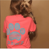 Thanks @courtney_beneke_3 and her yorkie for the support in our Miami short sleeve shirt! Order now at PawzShop.com 🐾: Thanks @courtney_beneke_3 and her yorkie for the support in our Miami short sleeve shirt! Order now at PawzShop.com 🐾