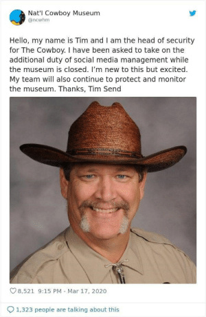 Thanks for being a light in this confusing world we're living in, Tim! #Twitter #Memes #CowboyMuseum #Cute #Aww #Entertainment: Thanks for being a light in this confusing world we're living in, Tim! #Twitter #Memes #CowboyMuseum #Cute #Aww #Entertainment