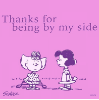 Thank you for standing with me.: Thanks for  being by my side Thank you for standing with me.