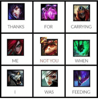 Memes, Hook, and 🤖: THANKS  FOR  CARRYING  ME  NOT YOU  WHEN  WAS  FEEDING Kys Teemo Credits @thresh_hook