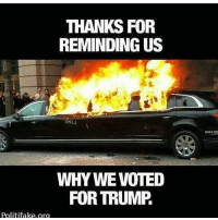 Conservative, Right Wing, and Strangers: THANKS FOR  REMINDING US  WHY WE VOTED  FOR TRUMP  Politifake.org Just guaranteeing 8 years liberalismisamentaldisorder maga protests intolerance liberals libbys democraps liberallogic liberal ccw247 conservative constitution presidenttrump nobama stupidliberals merica america stupiddemocrats donaldtrump trump2016 patriot trump yeeyee presidentdonaldtrump draintheswamp makeamericagreatagain trumptrain maga Add me on Snapchat and get to know me. Don't be a stranger: thetypicallibby Partners: @tomorrowsconservatives 🇺🇸 @too_savage_for_democrats 🐍 @thelastgreatstand 🇺🇸 @always.right 🐘 TURN ON POST NOTIFICATIONS! Make sure to check out our joint Facebook - Right Wing Savages Joint Instagram - @rightwingsavages Joint Twitter - @wethreesavages Follow my backup page: @the_typical_liberal_backup