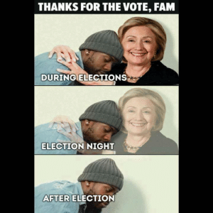 Fam, Election, and For: THANKS FOR THE VOTE, FAM  DURINGELECTIONSs  ELECTION NIGHT  AFTER  ELECTION thanks, fam