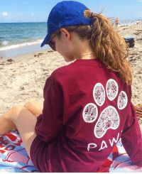 Thanks @gabriellegillispie for the support in our maroon mandala long sleeve order now to save the dogs at PawzShop.com 🐾: Thanks @gabriellegillispie for the support in our maroon mandala long sleeve order now to save the dogs at PawzShop.com 🐾