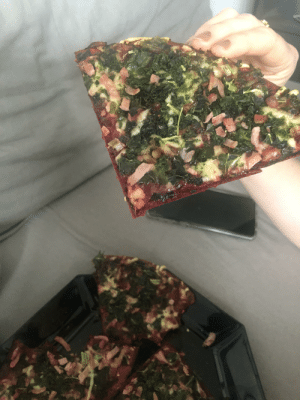 Thanks, I hate Beetroot based Kale and Wasabi Pizza. The cat ran away in disgust: Thanks, I hate Beetroot based Kale and Wasabi Pizza. The cat ran away in disgust