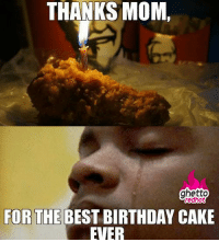 """THANKS MOM,  ghetto  redhot  FOR THE BEST BIRTHDAY CAKE  EVER <p class=""""tumblrize-linkback""""><a href=""""http://www.ghettoredhot.com/best-birthday-cake-ever/"""" title=""""Go to original post at Ghetto Red Hot"""" rel=""""bookmark"""">So delicious I cried</a></p>"""