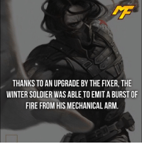 America, Facts, and Fire: THANKS TO AN UPGRADE BY THE FIXER, THE  WINTER SOLDIER WAS ABLE TO EMITABURSTOF  FIRE FROM HIS MECHANICAL ARM  - If this was in the MCU then R.I.P captain America -  - - - - marvel marveluniverse dccomics marvelcomics dc comics hero superhero villain xmen apocalypse xmenapocalypse mu mcu doctorstrange spiderman deadpool meme captainamerica ironman teamcap teamstark teamironman civilwar captainamericacivilwar marvelfact marvelfacts fact facts suicidesquad