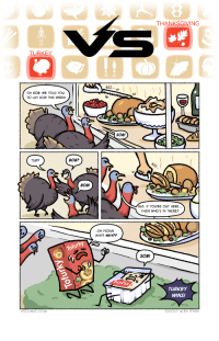 "Omg, Thanksgiving, and Tumblr: THANKSGIVING  TURKEY  8ZZ  OH BOB! WE TOLD You  TO LAY LOW THIS WEEK!  SOB!  SUP?  BOB?  BOB!  BUT, IF YOU'RE OUT HERE..  EN WHO'S IN THERE?  OH FIONA!  WHY? WHY??  SOB!  TURKEY  WINS!  SCOMIC.COM  92017 ALEX RYAN <p><a href=""https://omg-images.tumblr.com/post/167628328362/turkey-vs-thanksgiving"" class=""tumblr_blog"">omg-images</a>:</p>  <blockquote><p>turkey vs thanksgiving</p></blockquote>"