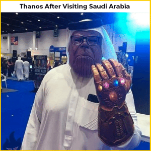 Wallah habibi - Thanos: Thanos After Visiting Saudi Arabia  ARTIST ALLEY Wallah habibi - Thanos