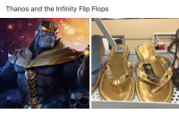 Saw, Shopping, and Infinity: Thanos and the Infinity Flip Flops  .99 <p>Saw these thrift shopping today&hellip;</p>