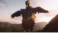 Thanos, Posing, and Dominance: Thanos asserting his dominance by T-Posing , colorized, 2018