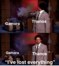 "Shut Up, Tumblr, and Lost: ThanoS  Gamora  Gamora  Thanos  32  ""l've lost everything"" <p><a href=""http://phoenixavalon.tumblr.com/post/173368410278/holysandwichhands-shut-up-you-purple-scrotum"" class=""tumblr_blog"">phoenixavalon</a>:</p><blockquote> <p><a href=""http://holysandwichhands.tumblr.com/post/173357202449/shut-up-you-purple-scrotum"" class=""tumblr_blog"">holysandwichhands</a>:</p>  <blockquote><p>shut up you purple scrotum</p></blockquote>  <p><a class=""tumblelog"" href=""https://tmblr.co/mYLcpdBmia5YP2ZY7ohOuxA"">@markhamillz</a> <a class=""tumblelog"" href=""https://tmblr.co/m-nTvk0yR9Yw67SWG_eNChg"">@finallygaveintothesirencall</a> <a class=""tumblelog"" href=""https://tmblr.co/mhhZGcDYl2ZsjCWojXQYovQ"">@brideshead</a> </p> </blockquote>"