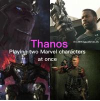 America, Batman, and Captain America: Civil War: Thanos  IG | Allthings Marvel DC  Playing two Marvel characters  at once For those who didn't know. In the end credit scene of 'Avengers' Thanos is played by Damion Poitier who was in 'Captain America: Civil War' as one of the mercenaries helping Crossbones. Then in 'Guardians of the Galaxy' they recast Thanos with Josh Brolin. Who is now Cable in Deadpool 2. • • Tags- • Marvel MarvelComics MCU MarvelCinemticUniverse DC DCComics DCEU DCExtendedUniverse InfintyWar GuardiansoftheGalaxy CivilWar WinterSoldier Avengers Deadpool Defenders ManofSteel JusticeLeague BatmanVSuperman WonderWoman Thor Spiderman CaptainAmerica IronMan Loki Batman Superman Flash IronFist Joker GreenLantern