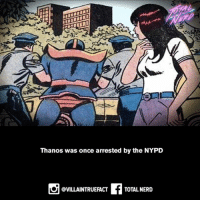 You gotta know your rights!!! 😂😂😂 totalnerd supervillainfact geeks marvelcomics marvel comics thanos nypd: Thanos was once arrested by the NYPD  f TOTAL NERD  @VILLAINTRUEFACT You gotta know your rights!!! 😂😂😂 totalnerd supervillainfact geeks marvelcomics marvel comics thanos nypd