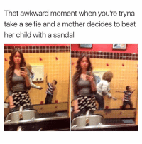 Swipe ➡️😂 | More 👉 @miinute: That awkward moment when you're tryna  take a selfie and a mother decides to beat  her child with a sandal Swipe ➡️😂 | More 👉 @miinute