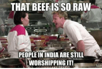 """<p>Yeah, Holy Cow literally means something in India. via /r/memes <a href=""""http://ift.tt/2zjtfVh"""">http://ift.tt/2zjtfVh</a></p>: THAT BEEFIS SO RAW  PEOPLE IN INDIA ARE STILL  I WORSHİPPING IT! <p>Yeah, Holy Cow literally means something in India. via /r/memes <a href=""""http://ift.tt/2zjtfVh"""">http://ift.tt/2zjtfVh</a></p>"""
