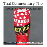 Memes, Worldstarhiphop, and Applebee's: That Commentary Tho  KERNEL  UP SEASONING  KERNES  KETCHUP  OALWAYSPOPPIN DY  MEMES  FOLLOW @ALW Yo @dj_nastynipple i know im late for whitepeoplewednesday but did Dexter really season dem poor defenseless birds with powdered ketchup??? 😕 memetangclan funniest15seconds whitepeople whitepeoplebelike savage niggasbelike newyork newyorkniggas nyniggasbelike alwaysp0ppin wshh worldstar worldstarhiphop balleralert theshaderoom ItsJustComedy hoodvine thevoiceovergang thatcommentarytho applebees