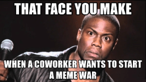 Meme, Memes, and War: THAT FACE YOU MAKE  WHEN A COWORKERWANTS TO START  A MEME WAR Top 30 Coworker Memes to Share with Your Colleagues – SheIdeas