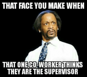 Memes, Work, and Top: THAT FACE YOU MAKE WHEN  THAT ONECO-WORKER THINKS  THEY ARE THE SUPERVISOR Top 10 Work Memes You'll Find Too Relateable | EmploymentHub