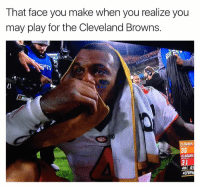 Clemsoning: That face you make when you realize you  may play for the Cleveland Browns.  CLEMSON  ALABAMA  31  4th  aCFBPla