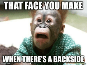Tumblr, Http, and Com: THAT FACE YOU MAKE  WHENTHERE'S A BACKSIDE  imgfip.com If you are a student Follow @studentlifeproblems​