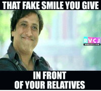 That fake smile.. rvcjinsta: THAT FAKE SMILE YOU GIVE  RVCJ  WWW.RVCJ.COM  IN FRONT  OF YOUR RELATIVES That fake smile.. rvcjinsta