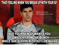 Must be hard. https://t.co/SKcpJv1toK: THAT FEELING WHEN YOU BREAK UP WITH YOUR GR  OO TrollFootball  The TrollFootball_Insta  BUT YOUR NEW GF WANTS YOU  TO WATCH FROM THE BENCH  WHILE SHE SLEEPS WITH' KEYLOR NAVAS Must be hard. https://t.co/SKcpJv1toK