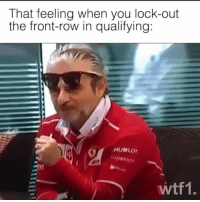 Memes, Front Row, and F1: That feeling when you lock-out  the front-row in qualifying:  wtf1. Like a boss 😎 f1 formula1 scuderiaferrari wtf1