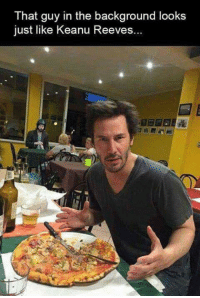 Whoa! There's a glitch in the Matrix! ~Budō: That guy in the background looks  just like Keanu Reeves. Whoa! There's a glitch in the Matrix! ~Budō