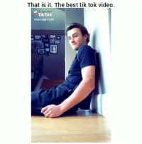 Funny, Lmao, and Wtf: That is it. The best tik tok video.  Tik Tok  abarndawg10 Lmao wtf clip of the day😂