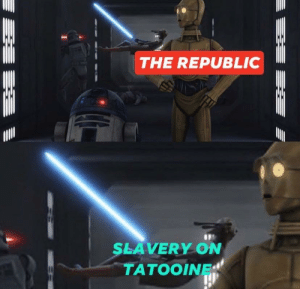 That little droid did it: That little droid did it