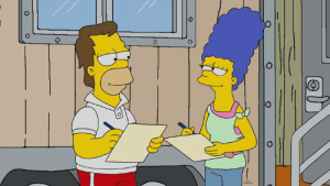 Dank, Http, and Homer: That look says it all. Throw it back with Homer and Marge on our latest episode: http://fox.tv/WatchTheSimpsons