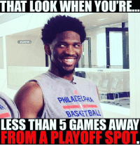 Nba, Spot, and Playoffs: THAT LOOK WHEN YOU'RE  NBAMEMES  LESS THAN 5 GAMES AWAY  FROM A PLAYOFF SPOT. 🏀They coming🔥DOUBLE TAP & TAG a friend if want this to happen!🏀 nba nba2k17 nbaplayoffs nbamemes check4202 ➡Everyone ADD us on Snapchat 👻 - ballershype ➡TURN ON POST NOTIFICATIONS ➡Follow my other account @ballershype for NBA news, rumours, videos! ➡LIKE us on Facebook (Link in bio!)