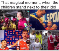 That moment 😍😍 @instatroll.soccer: That magical moment, when the  children stand next to their idol  @Troll Football  CU  THE EMIRATES FA cuP THE E  THE EMIRATES FA CUP 4  A CUP That moment 😍😍 @instatroll.soccer